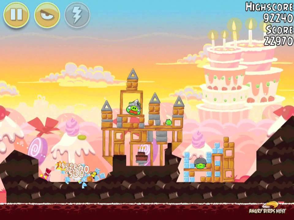 Angry Birds Birdday Party 19-4 Mighty Eagle Walkthrough