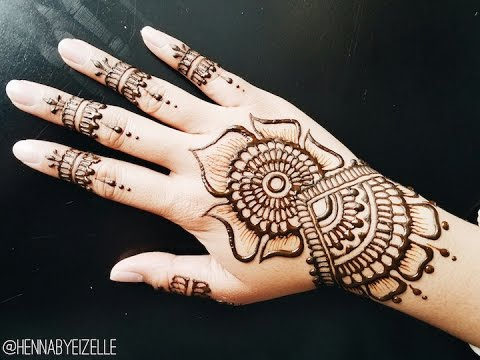 Mehndi Free Hand : Freehand henna mehndi design how to draw an easy bridal