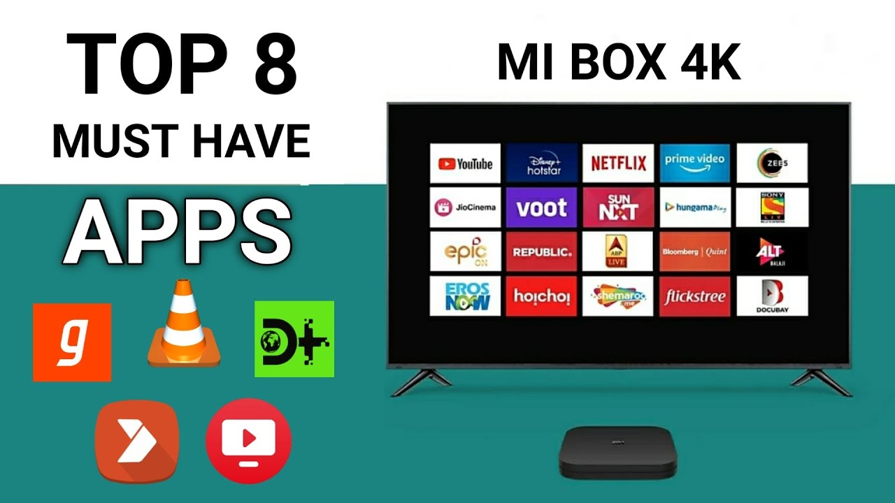 Xiaomi MI Box 4K Best 8 Apps to Install | Android TV Best Apps