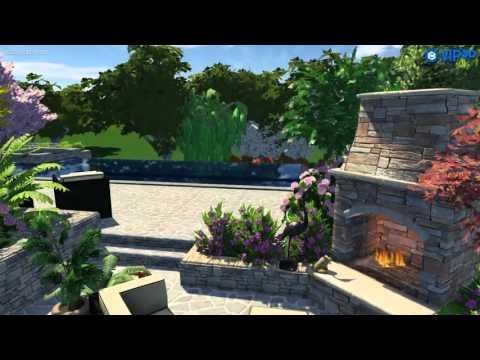 Infinity Edge Pool In Woodland Environment