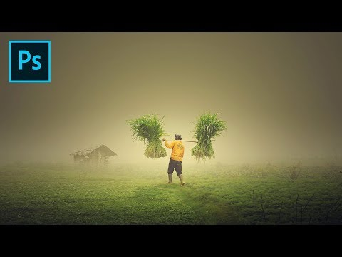 Photoshop Manipulation Tutorial Effects - Human In The Fog