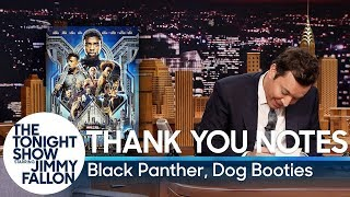 Thank You Notes: Black Panther, Dog Booties