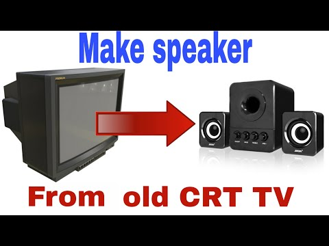 Make amplifier and speaker  from your old CRT tv   Tda7297 ic   Electric Boss  