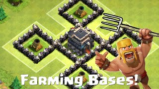 Clash Of Clans Town Hall 9 Defense - Farming Base Layouts With 4 Mortars!