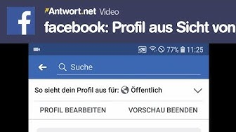 facebook App: Profil anzeigen aus Sicht von - So geht's