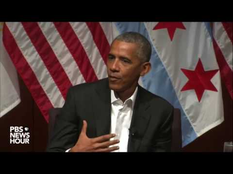 Former President Obama speaks with students at the University of Chicago - April 24, 2017