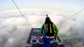 Skydiving dream jump from world 2nd largest building Dubai