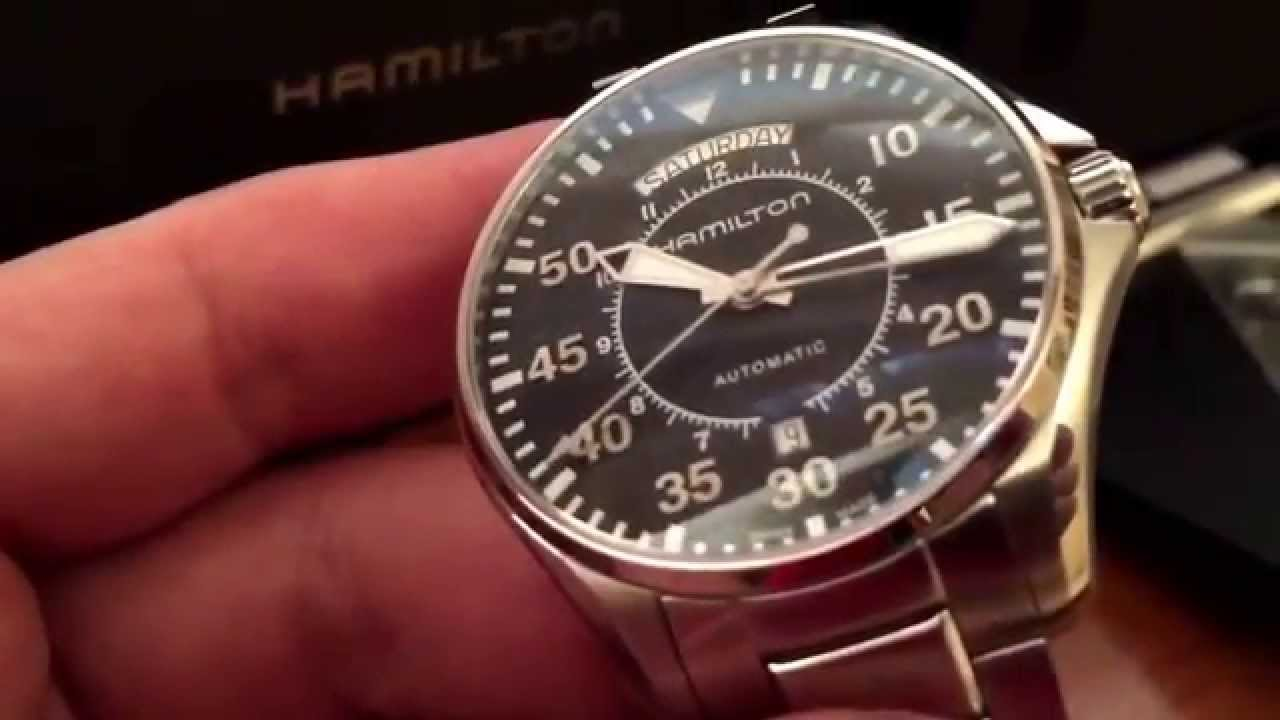 Best Automatic Watches >> Hamilton pilotwatch in movie ,Interstellar - YouTube