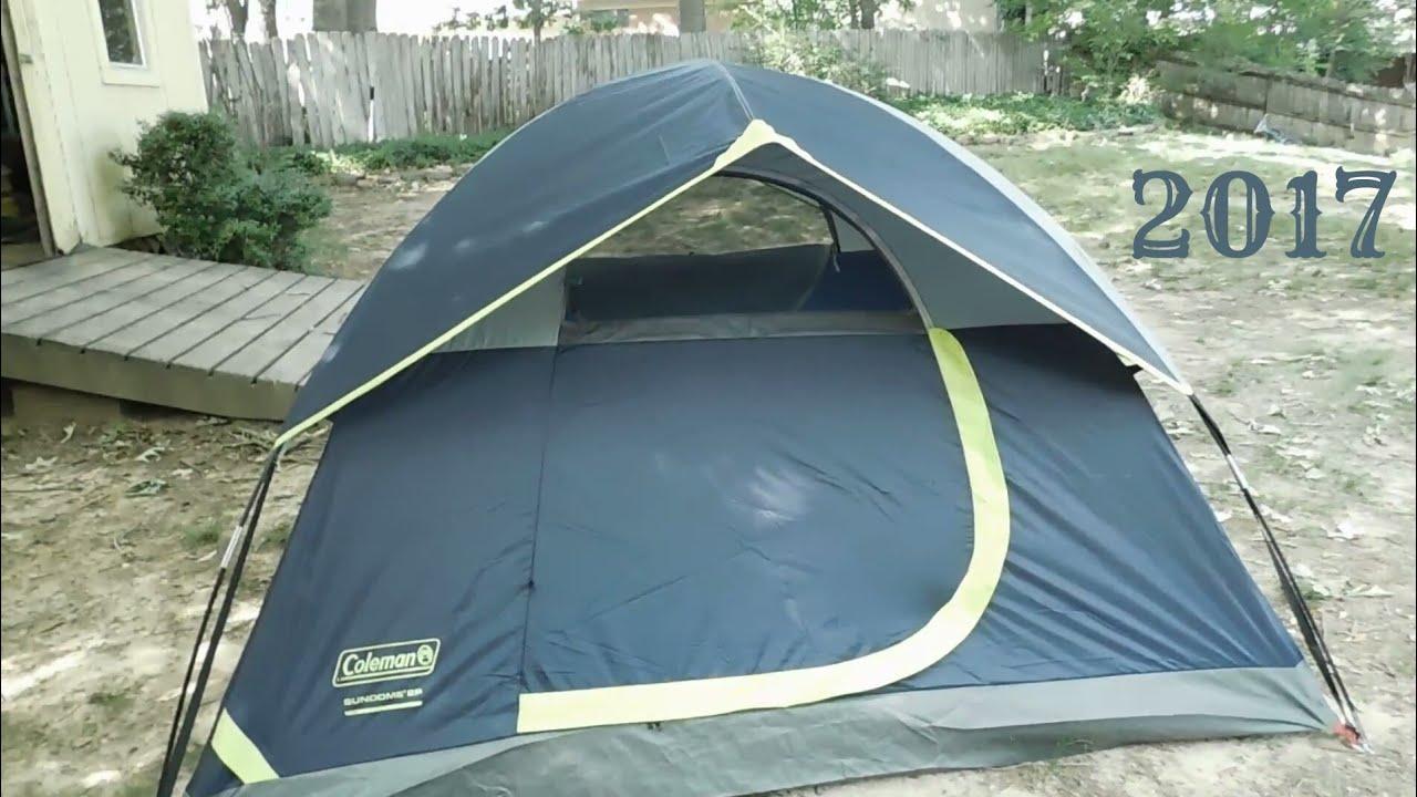 Coleman 2-person SunDome tent review & Coleman 2-person SunDome tent review - YouTube