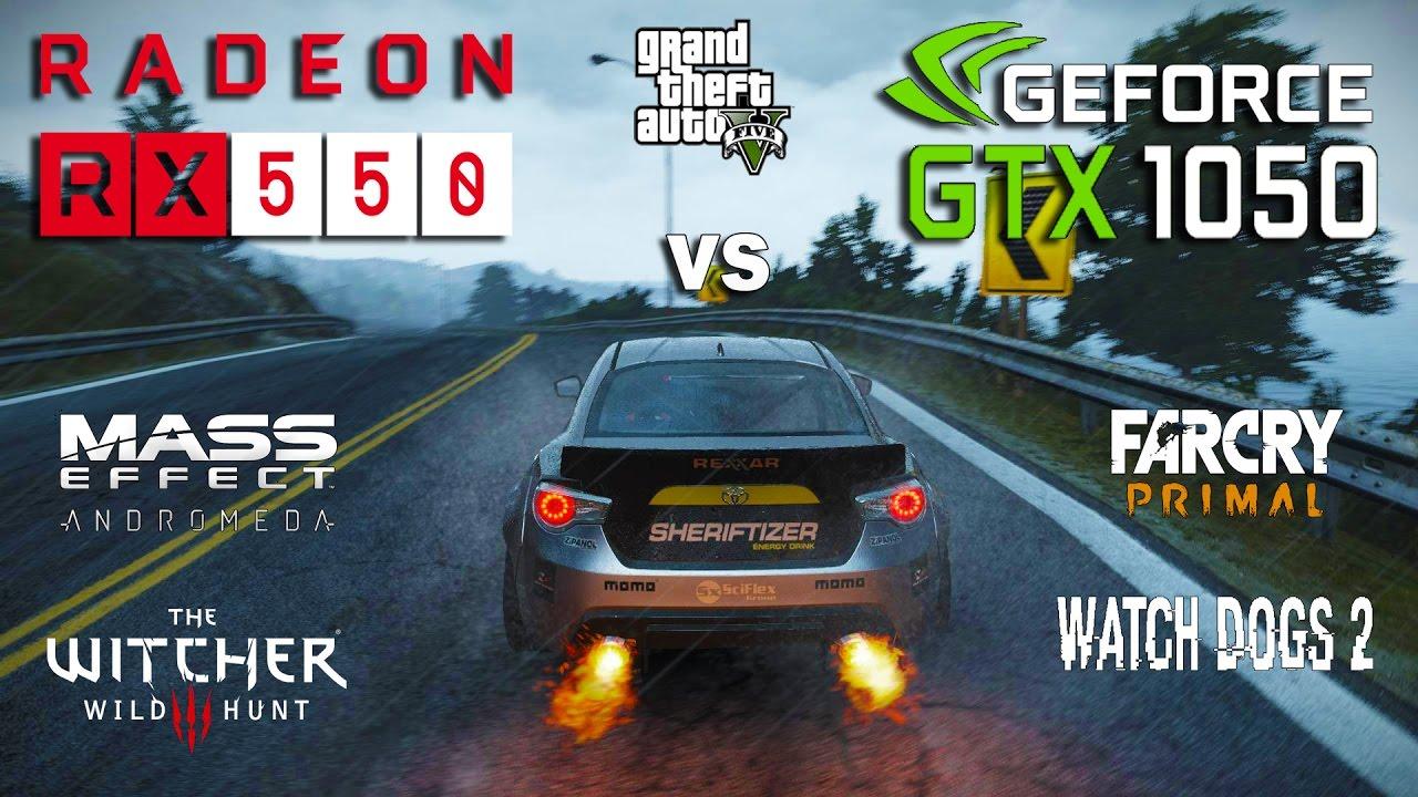 Rx 550 Vs Gtx 1050 Test In 6 Games Ryzen 1400 Youtube
