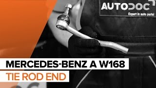 How to replace Tie rod end MERCEDES-BENZ A-CLASS (W168) Tutorial