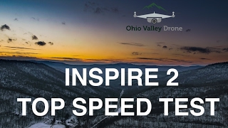 DJI Inspire 2 Top Speed Test - Higher than expected! 4K