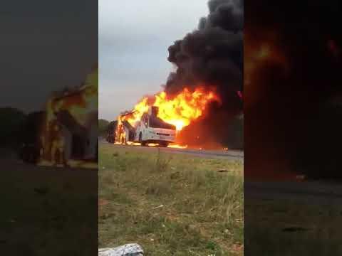Citiliner Bus Catches Fire In Beitbridge