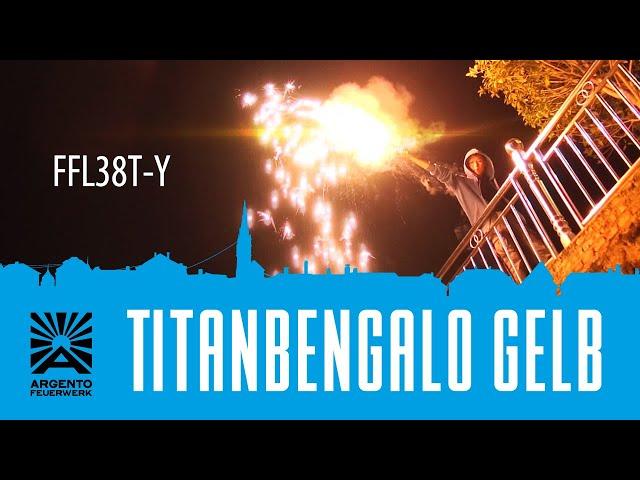 Titanbengalo Gelb - Bengalfeuer mit Titanfunken-Regen [Batch 2019]