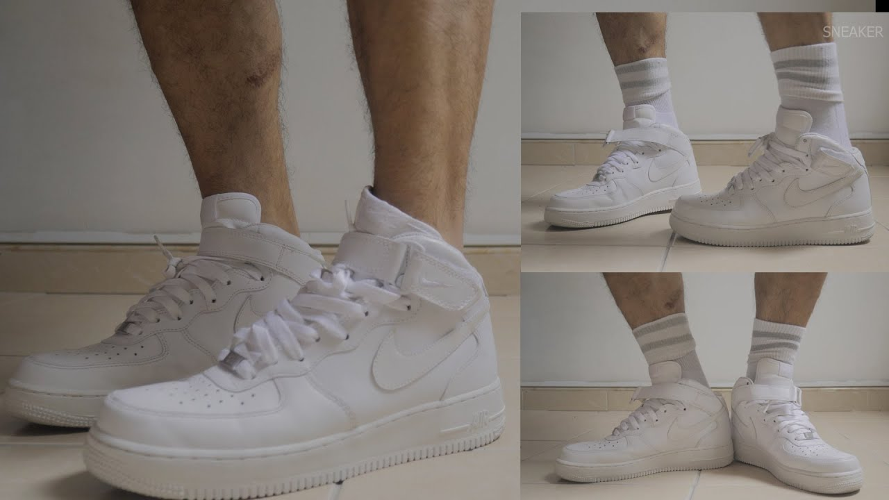 NIKE AIR FORCE ONE with Socks or not