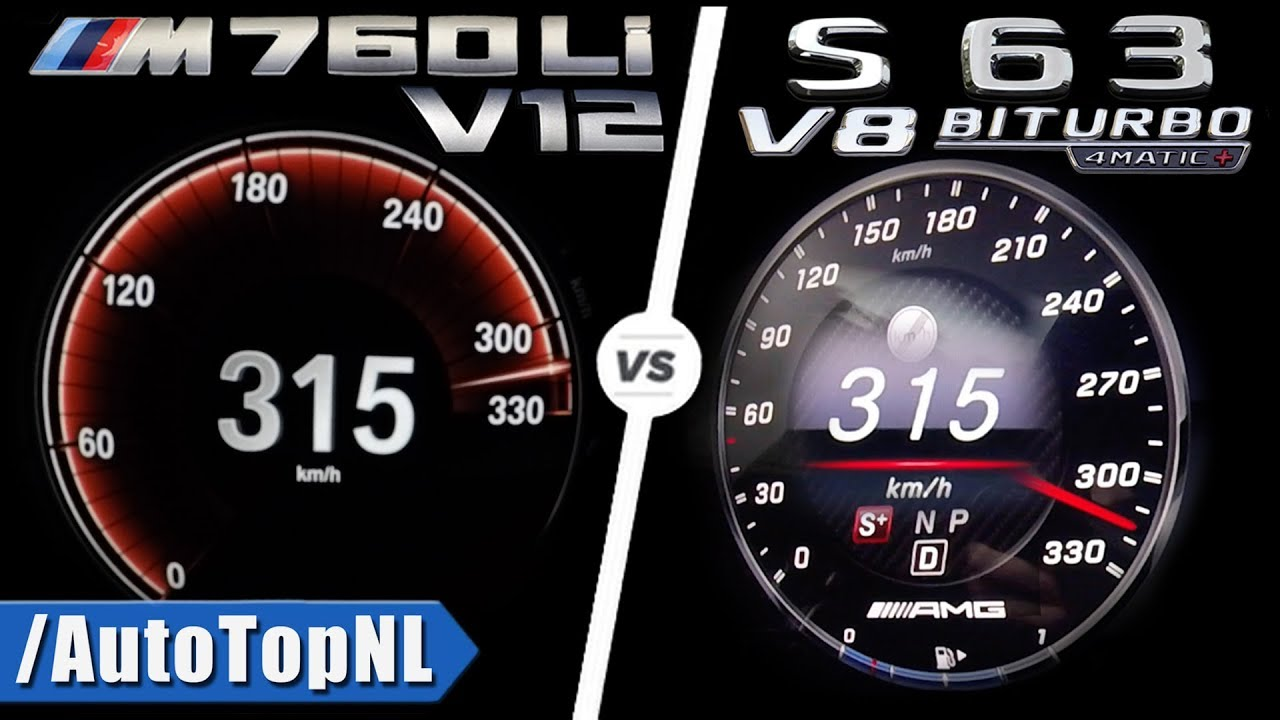 s63 amg vs bmw m760li 0 315km h acceleration top speed sound autobahn pov by autotopnl youtube. Black Bedroom Furniture Sets. Home Design Ideas