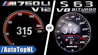 S63 AMG vs BMW M760Li 0-315km/h ACCELERATION TOP SPEED SOUND & AUTOBAHN POV by AutoTopNL