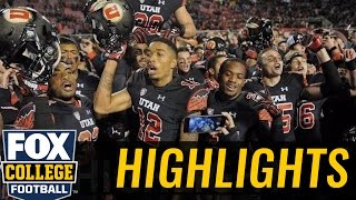 (24) Utah wins with late TD from Troy Williams to Tim Patrick - 2016 College Football Highlights