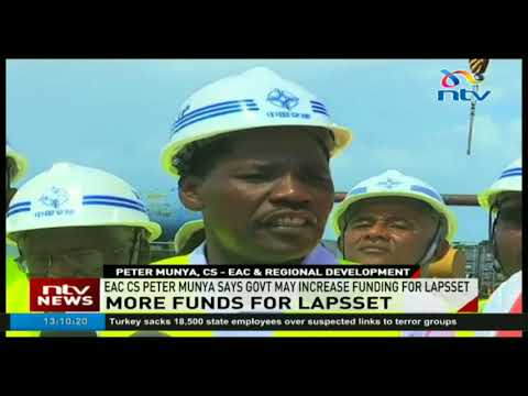 Peter Munya  speaks on the government possibility to increase funding for lapsset project