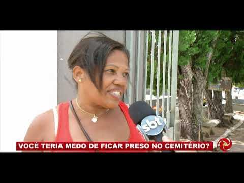 Campos Gerais: você teria medo de ficar preso no cemitério?
