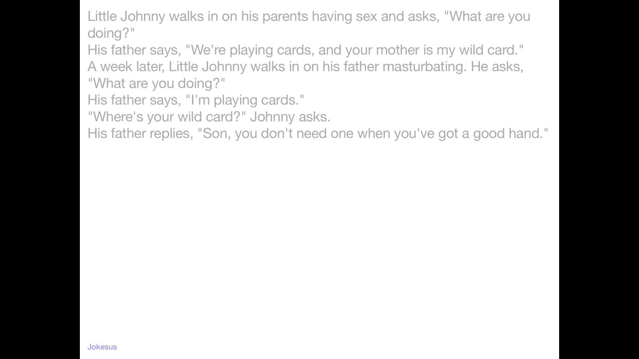 Uncategorized Lil Johnny Jokes jokes little johnny walks in on his parents having s and asks what are you doing father