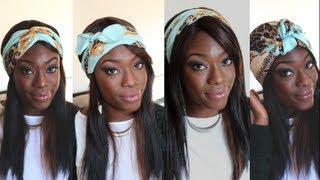 comment se coiffer avec un foulard