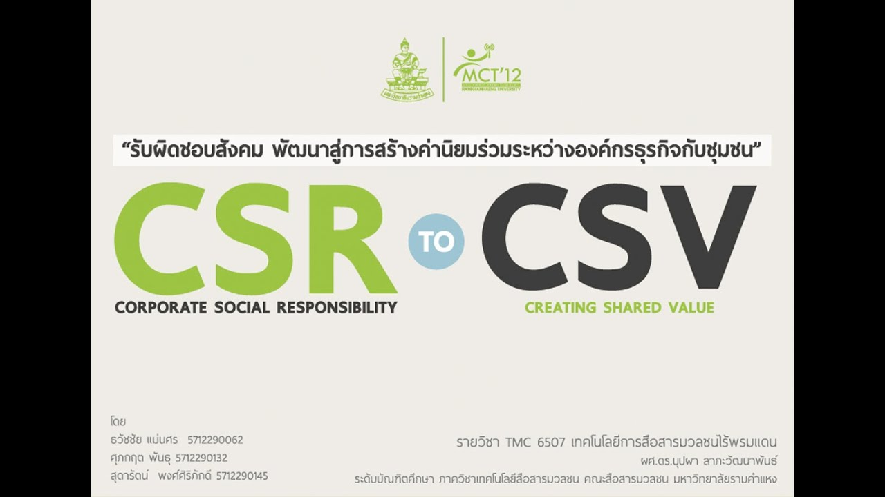 CSV vs. Sustainability: The Debate Continues