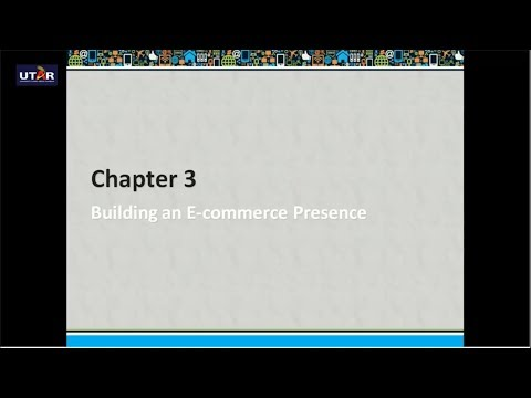 Chapter 3  Building an E commerce Presence