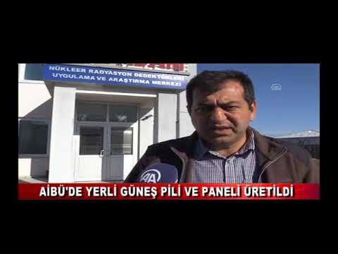 AİBÜ'DE YERLİ GÜNEŞ PİLİ VE PANELİ ÜRETİLDİ (06.01.2018)