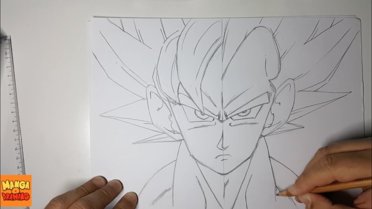 Dessin De Goku Vegeta Ssj God Dragon Ball Super Youtube