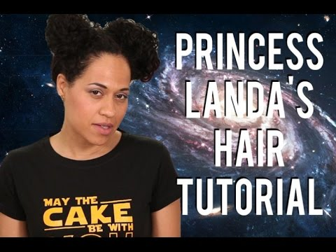 May The Fourth Be With You!! A PRINCESS LANDA hair tutorial for STAR WARS DAY!