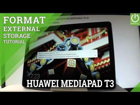 FORMAT Memory Card / Erase SD Card in HUAWEI MEDIAPAD T3