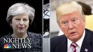 British Prime Minister May Criticizes Donald Trump Over London Subway Attack   NBC Nightly News
