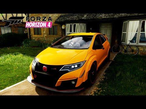 Honda Civic Type R, Jalan2 Di Perdesaan EROPA - Forza Horizon 4 Realistic Driving