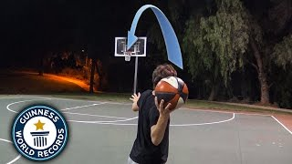 One of Jesser's most viewed videos: BREAKING BASKETBALL WORLD RECORDS!
