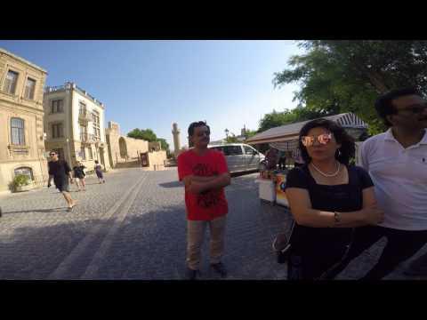 The Palace of the Shirvanshahs (Baku) with Rukhsana and Dr Waseem Sharif