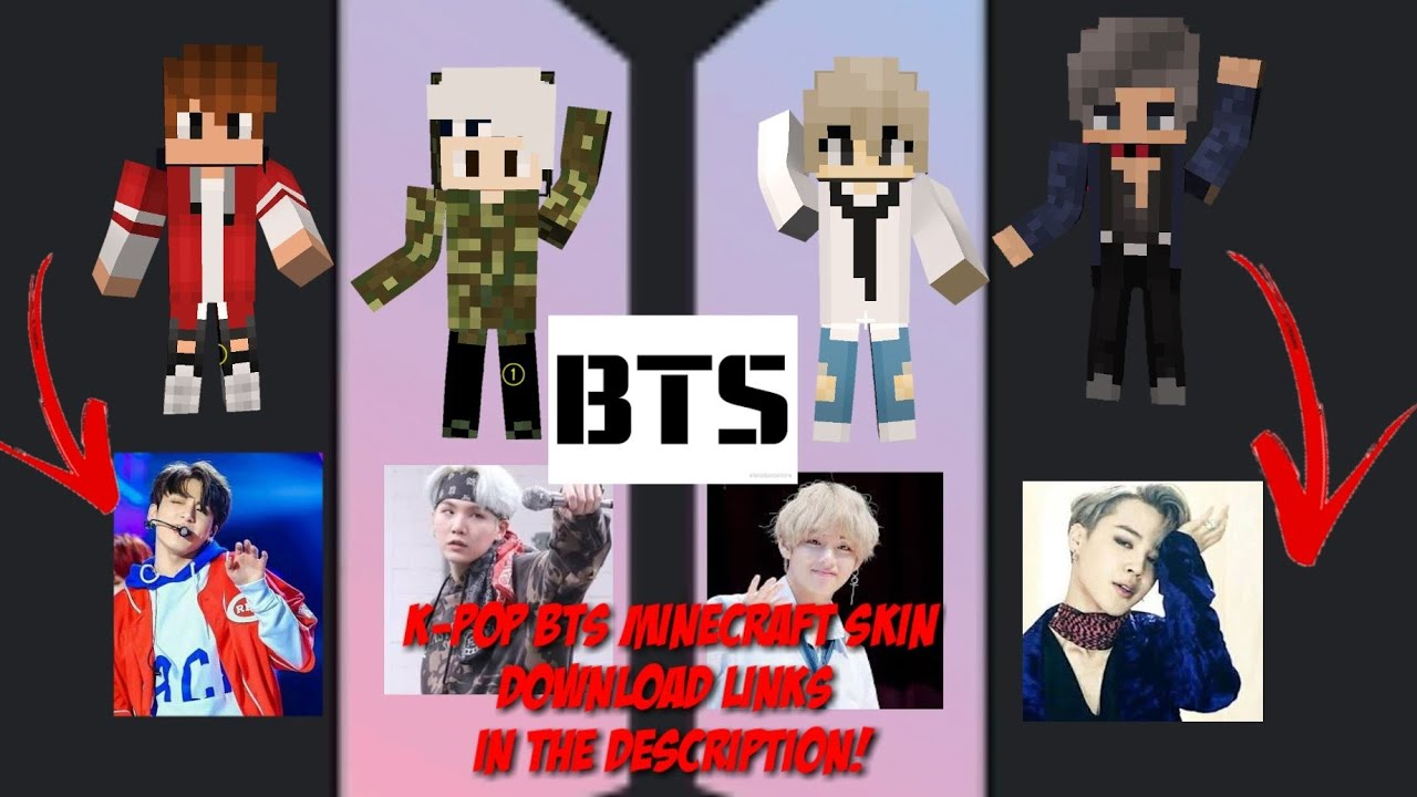 BTS Members Minecraft SkinDownload SkinJungkookVSugaJimin And - Skins para minecraft pe kpop