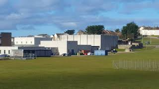 Lossiemouth High School + field before construction of new
