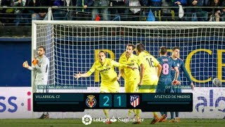 Villarreal vs Atlético Madrid 2-1 - All Goals - 3/18/18 - HD