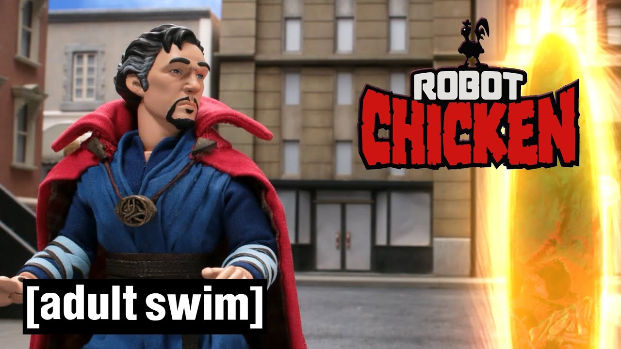 Robot Chicken | Doctor Strange Leaves the Portal Open | Adult Swim UK 🇬🇧