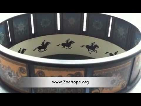 Zoetrope Animation Toy Of A Galloping Horse | Zoetrope