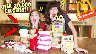 WE ORDERED EVERYTHING from McDonalds... over 20,000 cals.