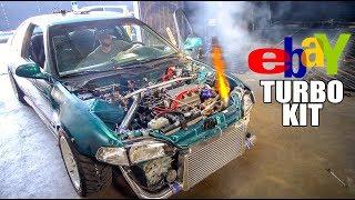 $600 EBAY TURBO CIVIC SHOOTING FLAMES!! (Dyno Day)