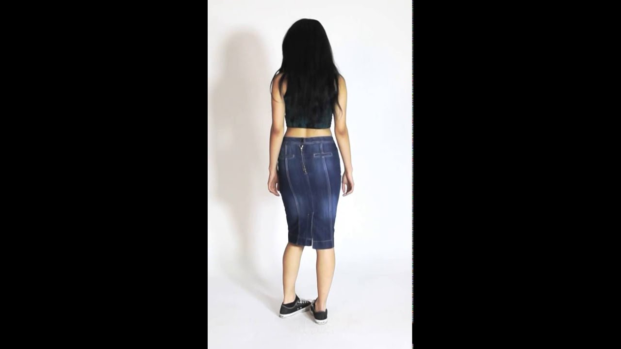 Denim Skirt - knee-length - YouTube