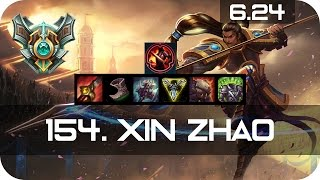 Xin Zhao Jungle vs Lee Sin Master Preseason 7 Season 7 s7 Patch 6.24 2017 Gameplay Guide Build