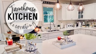 FARMHOUSE KITCHEN DECORATE WITH ME | FARMHOUSE DECOR | SUMMER FARMHOUSE DECOR 2019