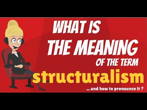 What is STRUCTURALISM? What does STRUCTURALISM mean? STRUCTURALISM meaning & explanation
