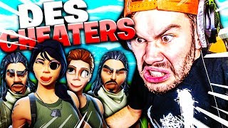 JE TOMBE CONTRE DES CHEATERS EN PLEINE GAME FORTNITE !!!