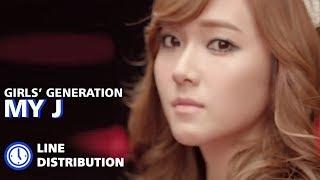 Girls' Generation (소녀시대) - 'My J' (Line Distribution)