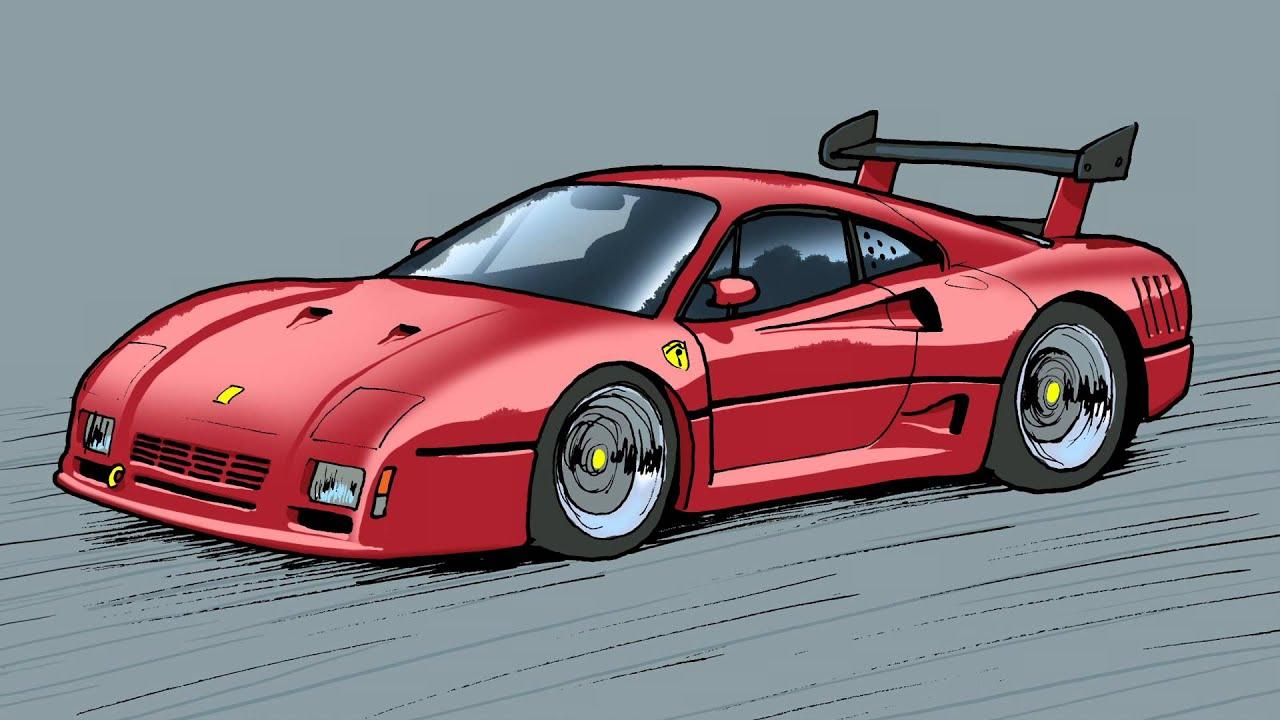 Ferrari Evolution 288 Gto Gto Evoluzione F40 Youtube